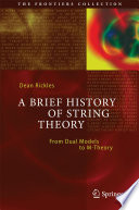 A Brief History of String Theory Book