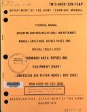 Operator and Organizational Maintenance Manual (including Repair Parts and Special Tools Lists)