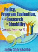 Policy  Program Evaluation  and Research in Disability