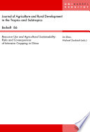 Resource Use And Agricultural Sustainability Book PDF