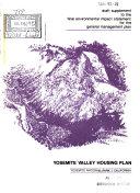 Yosemite Valley Housing Plan (YVHP), Mariposa County, Modera County, Tuolumne County