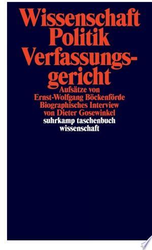 Download PDF >> Wissenschaft, Politik, Verfassungsgericht Free Online Books - Free eBook Collection