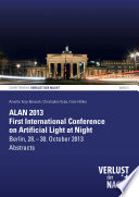 ALAN 2013 – First International Conference on Artificial Light at Night : abstracts