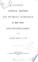 Annual Report on Public Schools in Rhode Island Book PDF