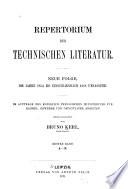 Repertorium der technischen Literatur