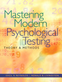 Mastering Modern Psychological Testing Book