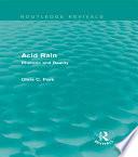 Acid Rain  Routledge Revivals