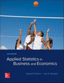 APPLIED STATISTICS in BUSINESS and ECONOMICS 6E Ical Guide
