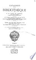 Catalogue de vente des livres de Comte de Corbière, du 1 à 10 decembre 1869
