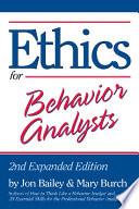 Ethics For Behavior Analysts Book PDF
