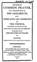 Pdf The Book of Common Prayer, Etc