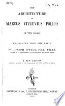 The Architecture Of Marcus Vitruvius Pollio In Ten Books