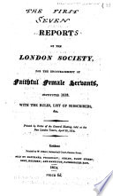 Report of the London Society  for the Encouragement of Faithful Female Servants