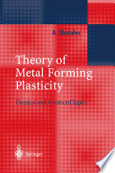 Theory of Metal Forming Plasticity Book