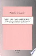 Religiöse Frauenlieder des 15.-16. Jahrhunderts