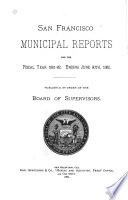 Municipal Reports for the Fiscal Year