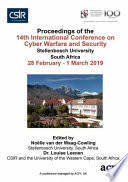 ICCWS 2019 14th International Conference on Cyber Warfare and Security Book