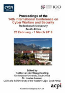 ICCWS 2019 14th International Conference on Cyber Warfare and Security