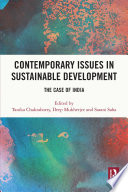 Contemporary Issues in Sustainable Development
