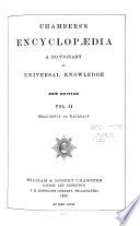 Chambers' Encyclopædia  : A Dictionary of Universal Knowledge , Volume 2