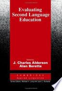 Evaluating Second Language Education
