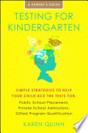 Testing for Kindergarten Book PDF