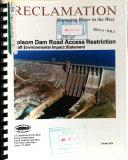 Folsom Dam Road Access Restriction