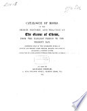 Catalogue of Books on the Origin  History and Practice of the Game of Chess  from the Earliest Period to the Present Day