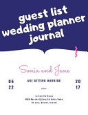 Guest List Wedding Planner Journal