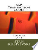 SAP Transaction Codes – Volume One