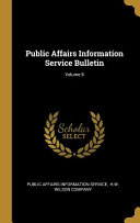 Public Affairs Information Service Bulletin