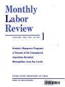 MONTHLY LABOR REVIEW JANUARY 1966 VOL  89 NO  1