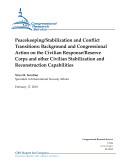 Peacekeeping/Stabilization and Conflict Transitions
