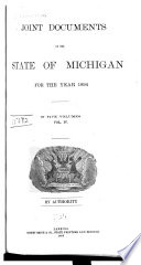 Joint Documents of the State of Michigan Book