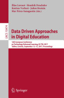 Pdf Data Driven Approaches in Digital Education Telecharger