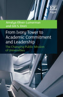 Pdf From Ivory Tower to Academic Commitment and Leadership Telecharger