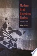 Modern Arab American Fiction Book