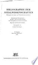 Bibliographie der Wirtschaftswissenschaften