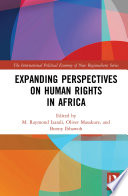 Expanding Perspectives on Human Rights in Africa Book
