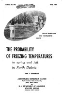 The Probability of Freezing Temperatures in Spring and Fall in North Dakota
