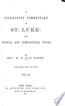 A Suggestive Commentary On St Luke