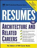 Resumes for Architecture and Related Careers