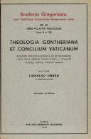 Theologia Güntheriana et Concilium Vaticanum
