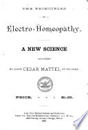 The Principles of Electro homeopathy Book