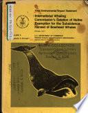 Bowhead Whale Harvest Exemption Deletion Book PDF