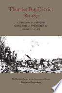 Thunder Bay District  1821   1892