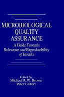 Microbiological Quality Assurance