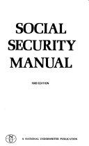 Social Security Manual