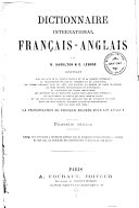 Dictionnaire international français-anglais