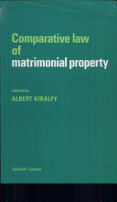 Comparative law of matrimonial property
